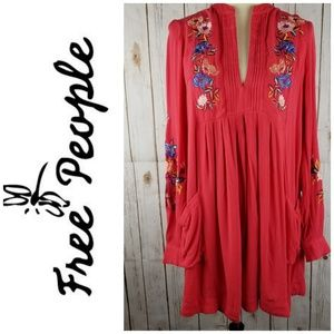 NWT Free People Mia Gauze Mini Dress